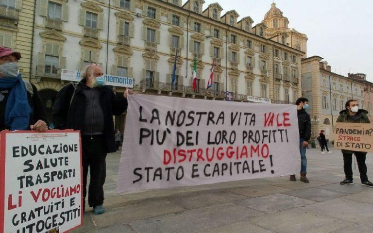 La nostra vita vale più dei loro profitti Distruggiamo Stato e Capitale!