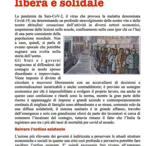 Per una società  libera e solidale