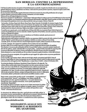 San Berillo: contro la repressione e la gentrificazione