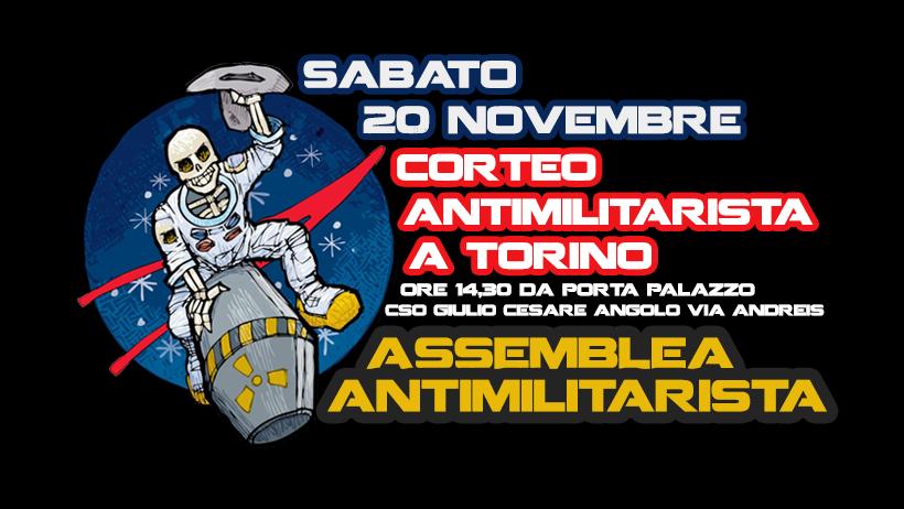 20 novembre corteo antimilitarista a Torino