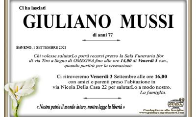 """Giuliano Mussi (""""Baffo""""), amico e compagno"""